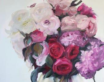 """Oil Painting, art, abstract art, wall art, canvas painting, art painting, painting canvas, abstract painting, flower art, modern art 20""""x24"""""""