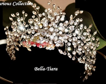 Crystal hair vine, wedding hair vine, crystal wedding headband, wedding side clip, wedding headpiece, bridal headpiece, crystal comb