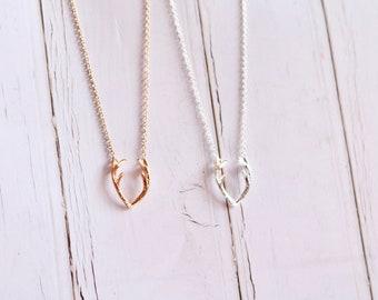 Deer Antler Necklace, gold, silver deer antler necklace silver antler jewelry gold deer antler necklace for women