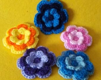 Crochet Flower Broach