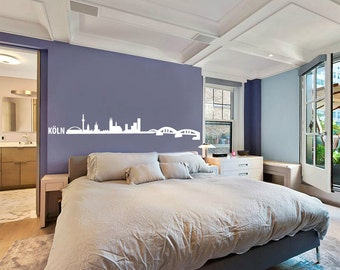 Köln Cologne Skyline Wall Decal Cute Vinyl Sticker Home Arts Europe City Wall Decals Germany WT099
