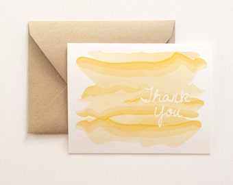 Watercolor Ombre Thank You Card