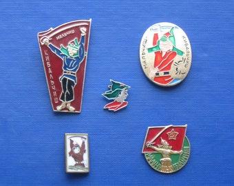 Soviet badges about the Hero of Malchish - Kibalchish.
