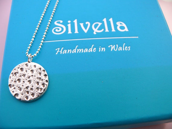 The Moon For You - Moon Pendant - Silver Necklace - Silver Moon - Handmade in Wales