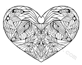 Coloring Page (Heart)