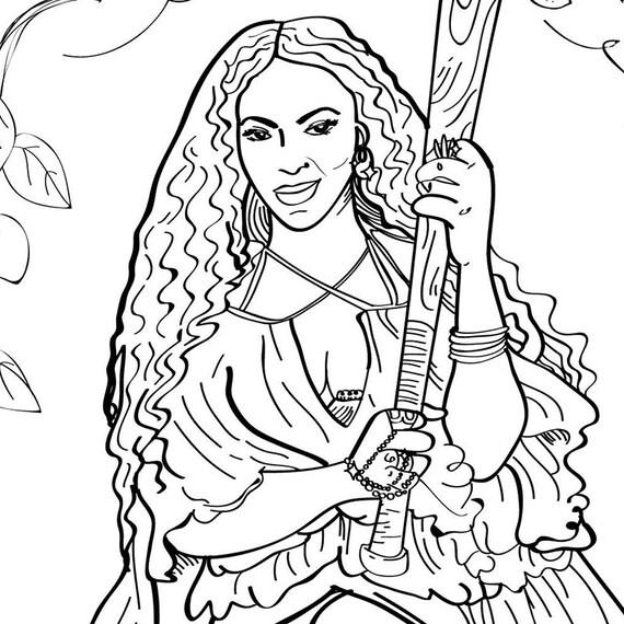 beyonce lemonade adult coloring sheet printable art print rh etsy com Beyonce Lemonade Album Beyonce Coffee Table Book
