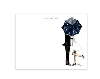 Personalized Stationery Set: Behind the Umbrella
