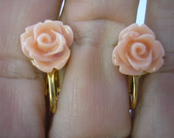 Play Earring - Clip - Rosebud - Apricot - 3/8""