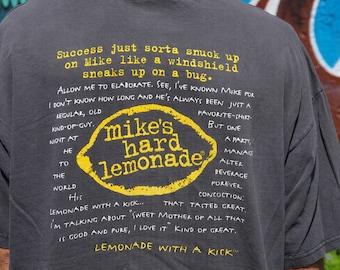 90's MIKE'S HARD LEMONADE success story faded black t-shirt size extra large