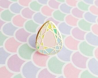 Rainbow Pastel Gem Stone Enamel Pin