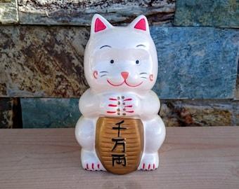 Korean Maneki Neko Fortune Cat Figurine