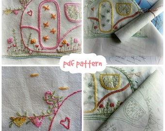 my caravan hand embroidery pattern pdf