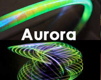 """LED Hoop - 'AURORA'  - 3/4"""" Polypro. Made in any size 26"""" - 36"""". Free 3M Inside Grip Option!"""