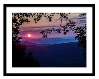 Framed Photography Print - Blue Ridge Delight - Framed/Unframed