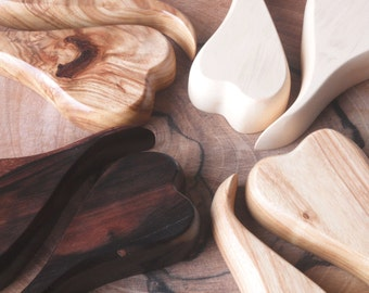 Nesting Hearts - Exotic Wood Sculpture