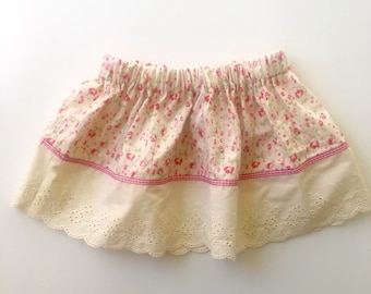 Lace and floral eco friendly girls skirt