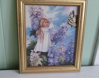 Little Girl Angel Painting 8x10