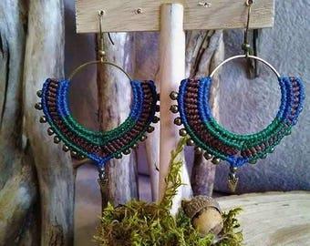 Pan macrame earrings