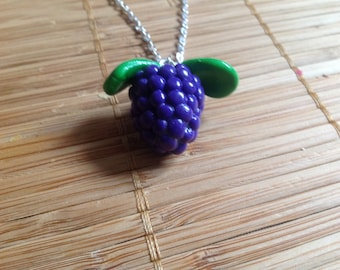BlackBerry way necklace with pendant necklace