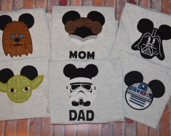 Embroidered Star Wars Family Shirts