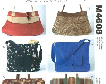 McCall's 4608 Misses' Handbags - 6 Styles - PATTERN