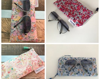 Glasses case in Liberty of London pattern choice to order