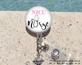 Monogram Badge Reel, Retractable Badge Holder, Personalized Badge Reels, Doctor Badge Reels, Nurse badge Reels,L&D, NICU, MB390