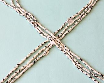 Small Bone Tube Beads with X Pattern - B+H 023