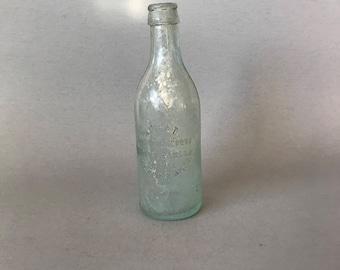 Vintage glass bottle, vintage water bottle, World Bottling Company bottle, New Orleans glass bottle, NOLA glass bottle, rare glass bottle