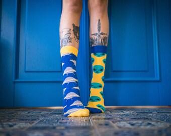 Solaris Futuristic Socks, UFO Socks, Fantastic mens socks, Women's Socks.