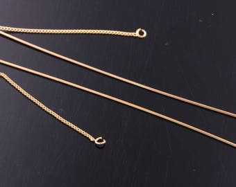 2pair/4pcs-114mm Gold Plated over Brass Long thin chain Earring for jewelry making,Earring Findings(K1253G)