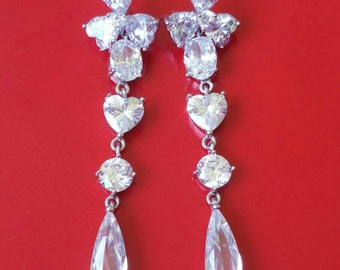 Elegant Crystal Dangling Earrings