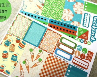 BIG Happy Planner Planner Stickers - Weekly Planner Sticker Set - Happy Planner - Day Designer - Retro Easter Stickers - Spring Stickers