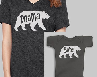 Mommy and Me Outfits - Mama Bear, Baby Bear, Baby Boy Clothes, Baby Bear Baby Clothes, Mommy and Me, Baby Boy, Baby Shower Gift, Baby Gift