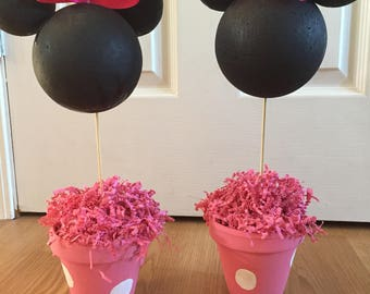 Mickey Mouse and/or Minnie Mouse Party Centerpieces Wedding Disney Birthday decor