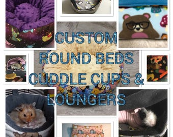 SALE! 10% OFF Custom Pet Beds & Sleep Sacks for Guinea Pigs, Chinchillas, Ferrets, Rabbits, Hamsters, and other small pets