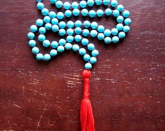 Garden of Earthly Delights, Mala Beads, Turquoise, 108 Mala Beads, Mala Necklace, Prayer Beads, GardenofEarthlyDelights, Yoga Jewelry