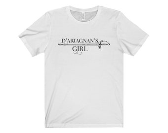 D'Artagnan's Girl Shirt - The Three Musketeers - Short Sleeve Tee