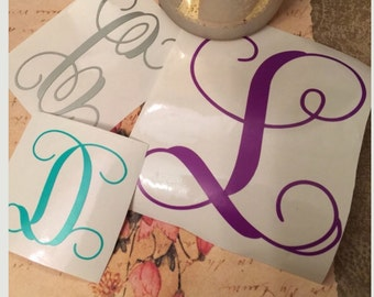 Name Decal, Personalized, Monogram, Car Decal, Laptop Decal, Vinyl Lettering, Yeti Cup Decal, Yeti Cup Decal