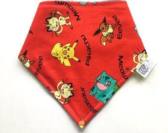 Pokemon baby bib - Anime baby bib - Pokemon bib - Pokemon bandana bib - Pokemon baby gift - baby shower gift