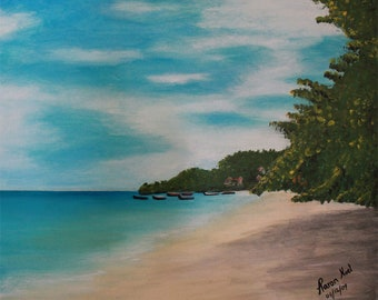 Caribbean beach art - downloadable prints - digital prints