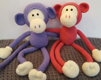 Baby Toy, Custom Crochet Monkey, Monkey Stuffed Animal, Baby Monkey, Unique Baby Gift, Monkey, Large Stuffed Animal, Custom Baby Toy