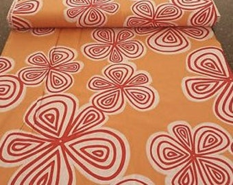 Marcus Quilting Fabric Two young street by Prints Charming Marcus BTY Red White Floral Orange