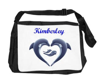 Dolphins bag personalized with name
