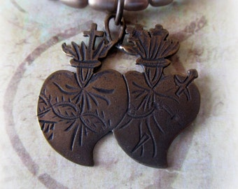 Sacred and Immaculate Hearts Necklace