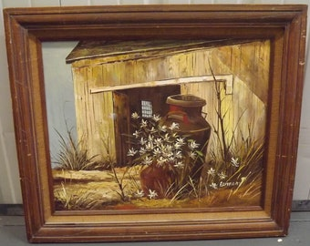 Beautiful Oil Painting of a Country Barn by Bemen