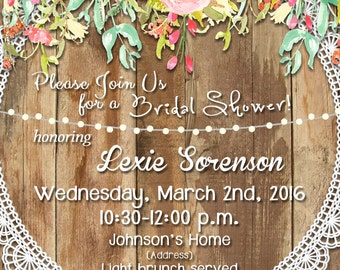 Spring Vintage Bridal Shower Invite