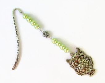Owl bookmark, owl gift, metal bookmark, beaded bookmark, gift for teacher, planner bookmark, bookmarker, teacher gift, bird bookmark