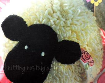 Loopy Black Face Sheep • Novelty Tea Cosy • Aran • Knitting Pattern • Craft • PDF Instant Digital Download