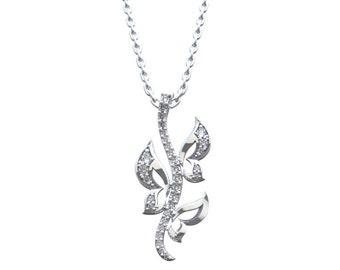 "Diamond gold ""Butterfly melody"" pendant"